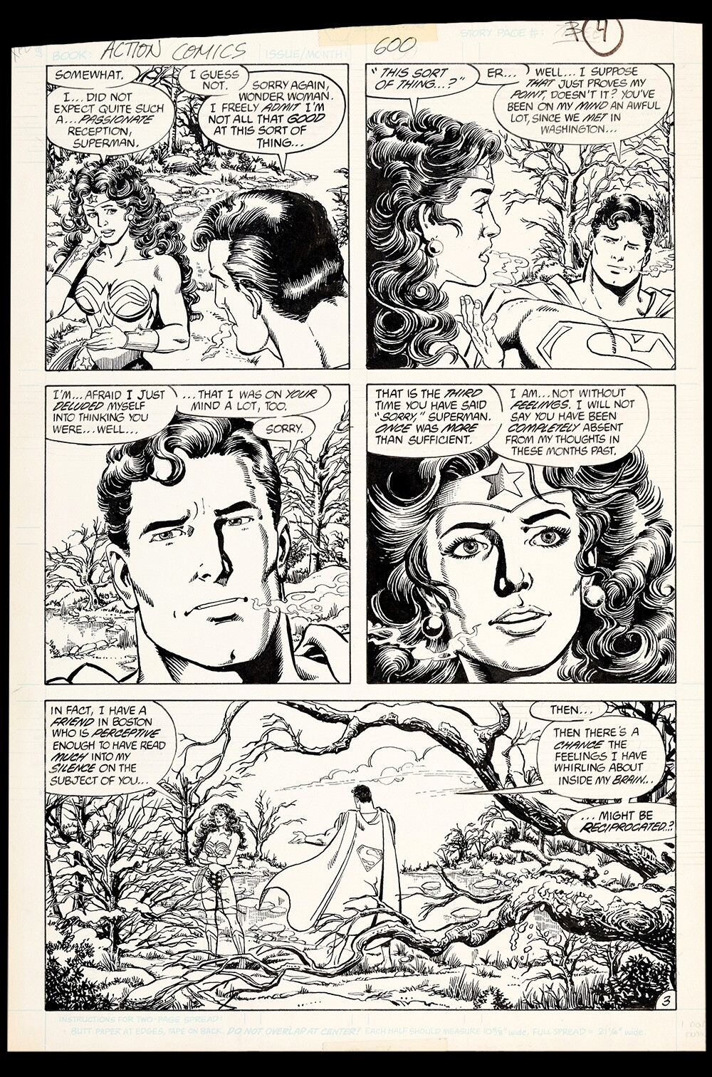 Action Comics #600 Art by John Byrne and George Perez
