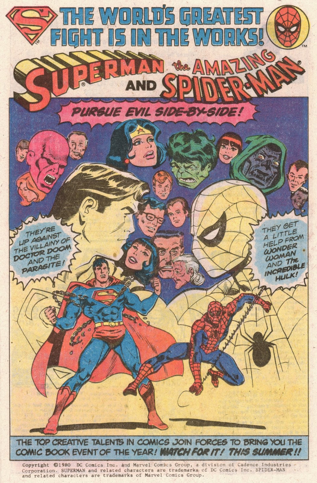Superman and Spider-Man 1980 ad 01