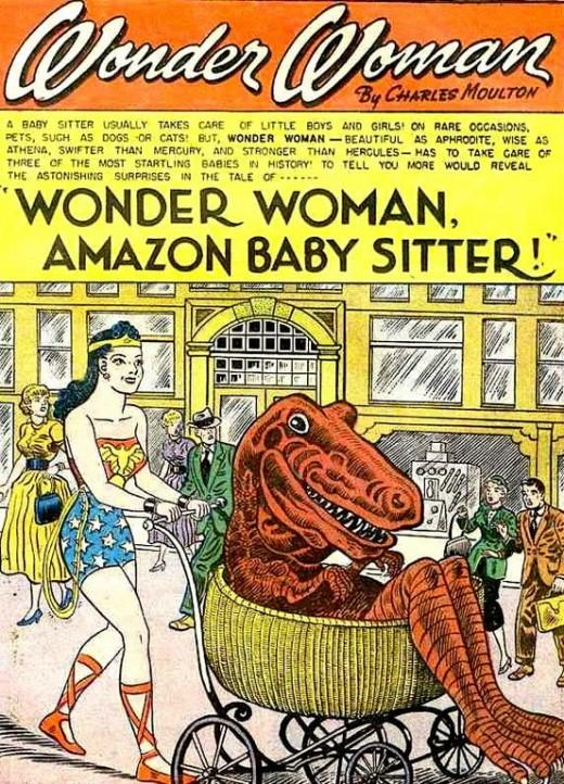wonder-woman-babysits-a-dinosaur-1