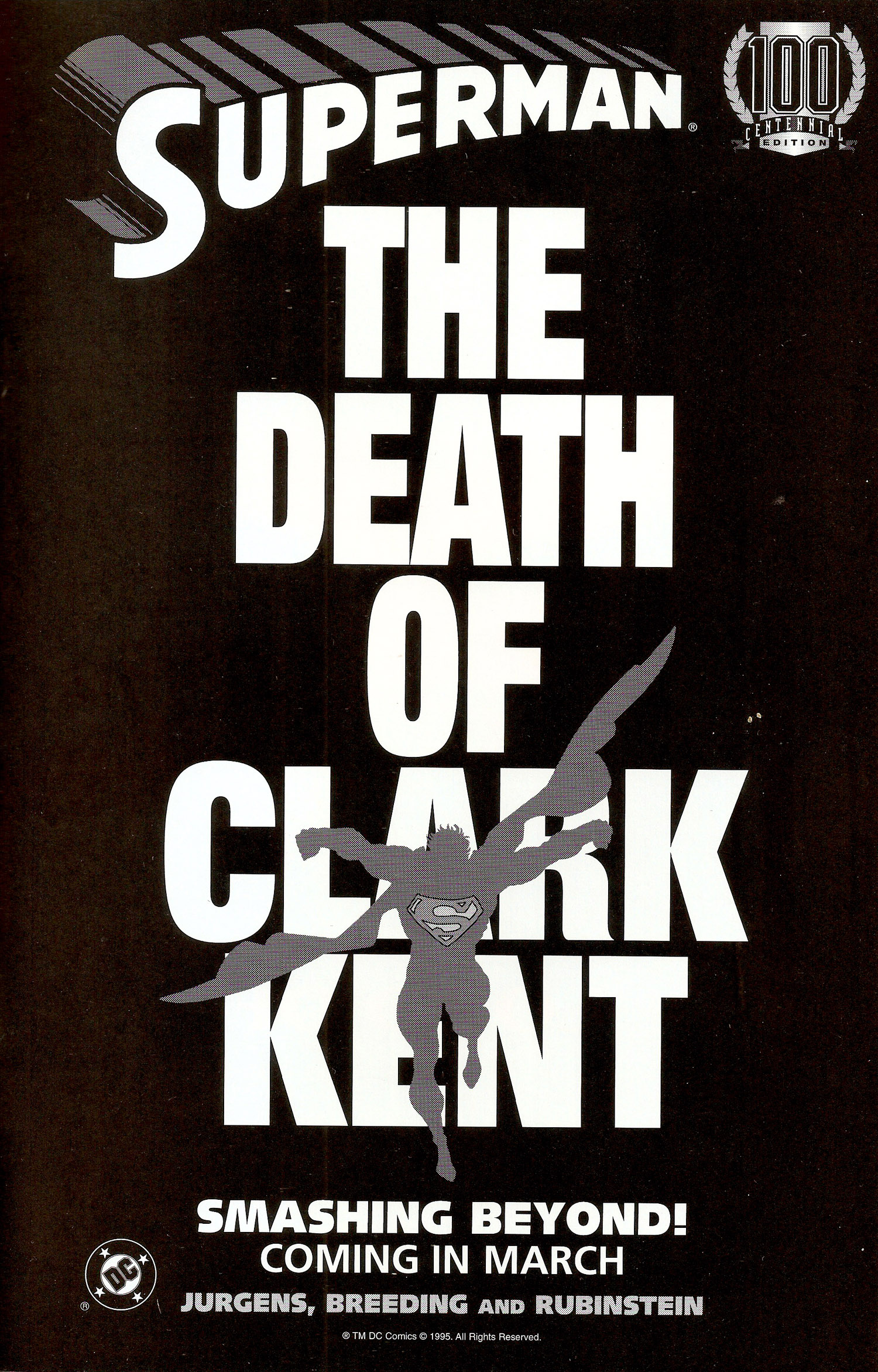 Ad-1995-Death-of-Clark-Kent-B-and-W