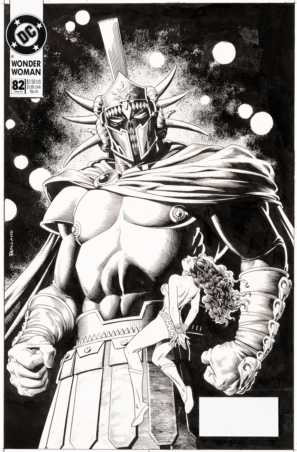 Original cover art by Brian Bolland from Wonder Woman #82, 1994