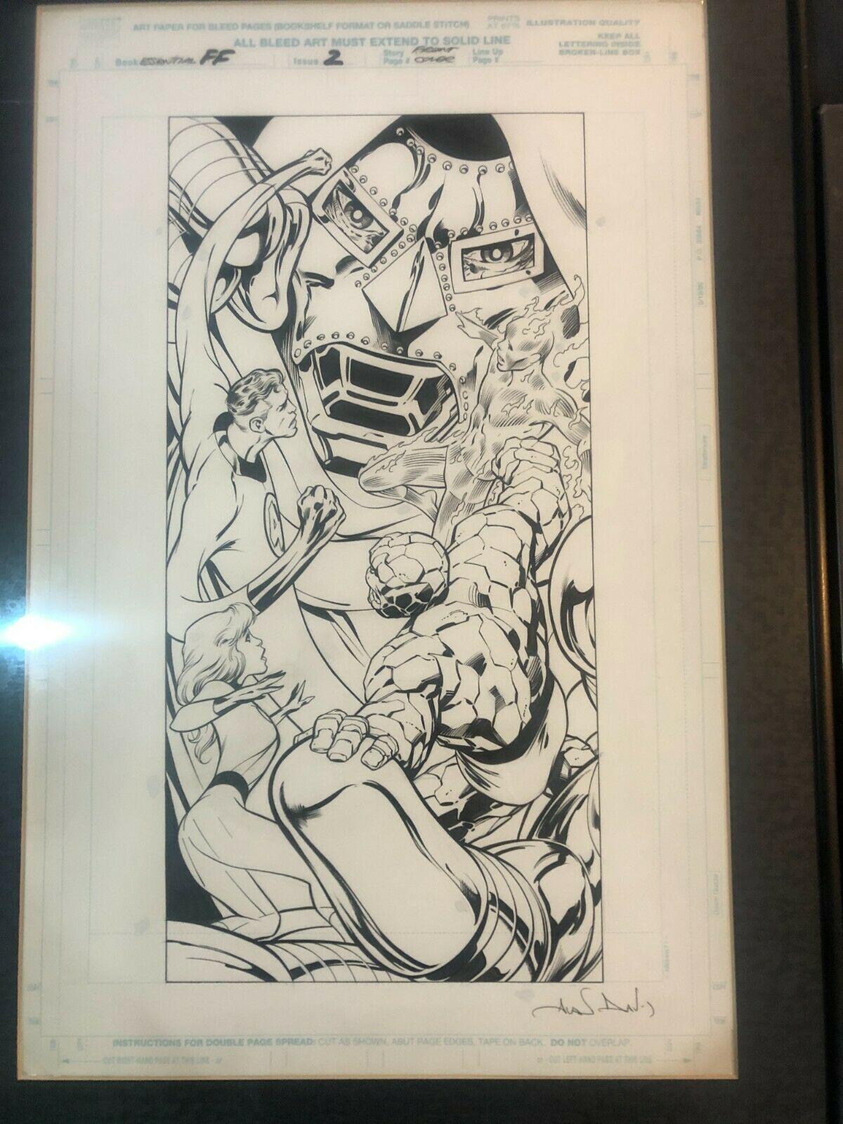 Alan-Davis-Original-Comic-Art-Fantastic-Four-Cover