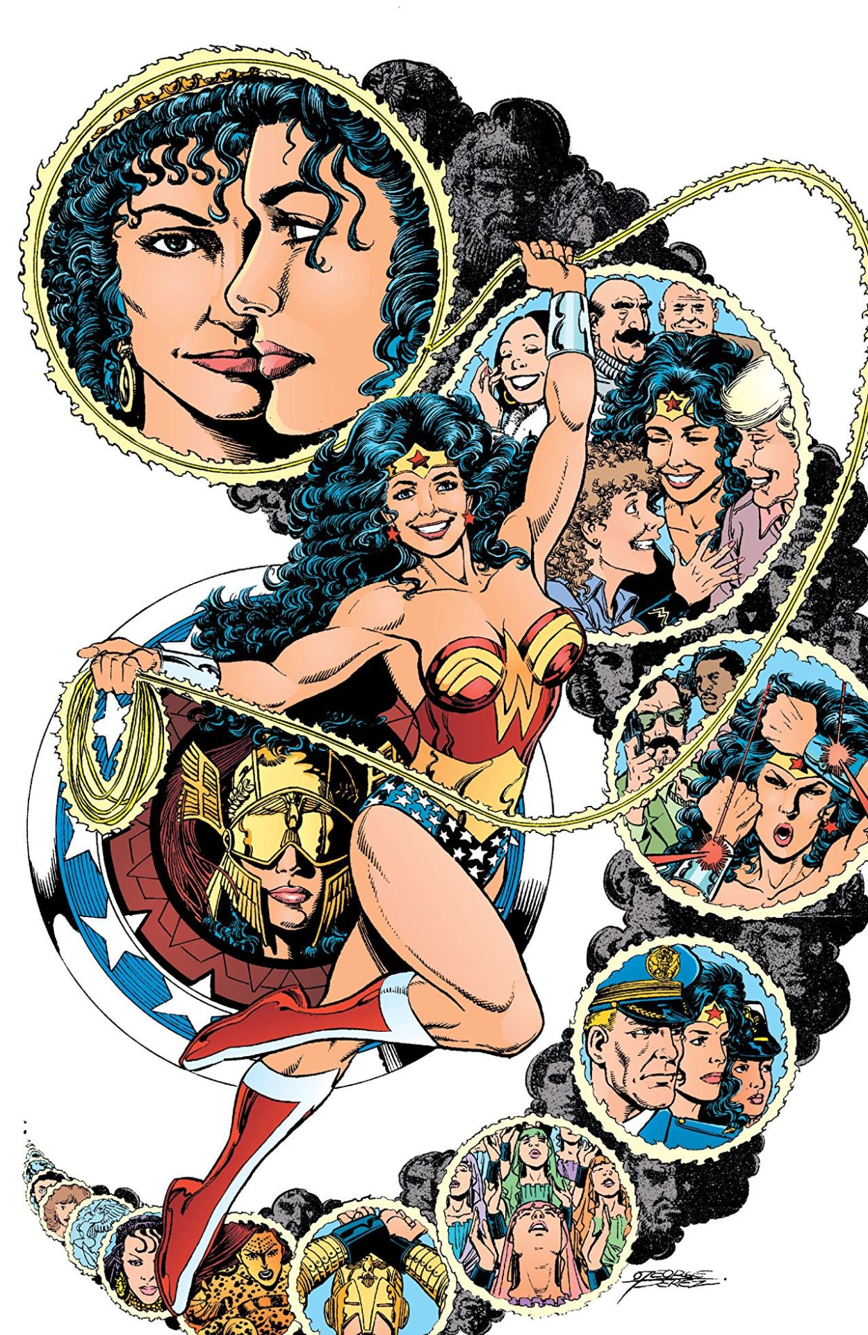 Pin-up by George Perez from the Wonder Woman Gallery, 1996
