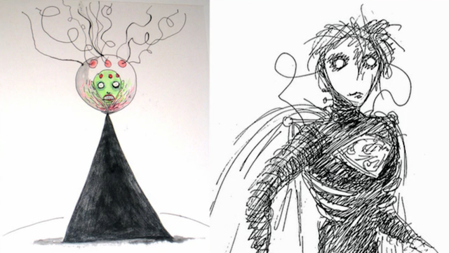 Tim-Burton-Superman-drawings