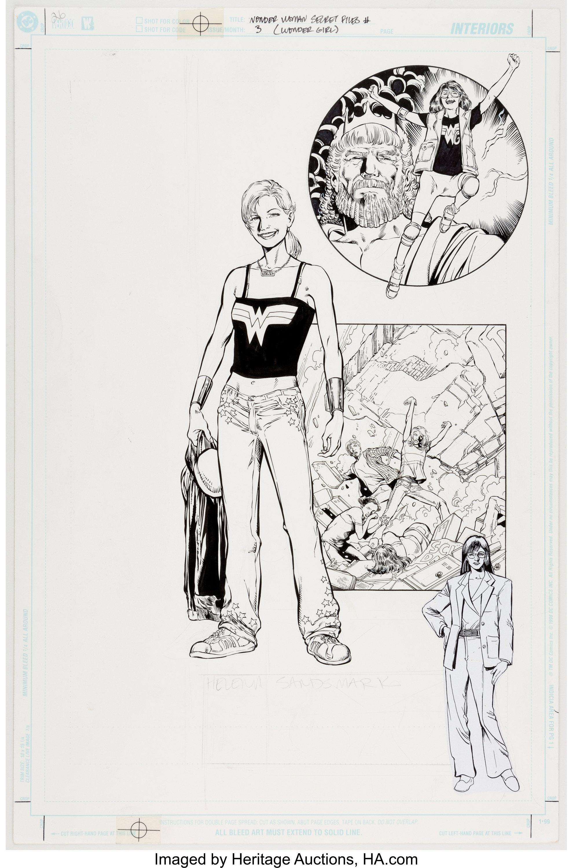 Wonder Woman Secret Files #3 (Wonder Girl) Original Splash Page by Phil Jimenez