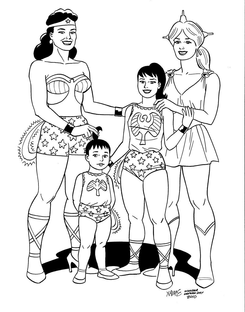 Jaime Hernandez does Wonder Woman. #DCWomen