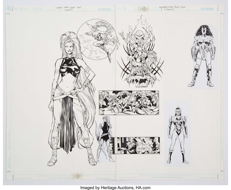 Wonder Woman Secret Files #3 (Artemis) Original Double Splash Page by Phil Jimenez