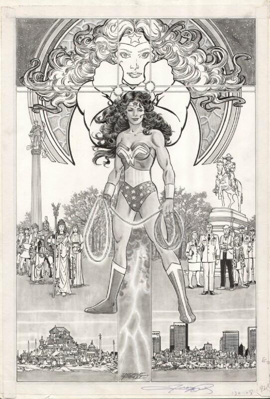 George Perez - Original Art created for History of the DC Universe Portfolio - Wonder Woman