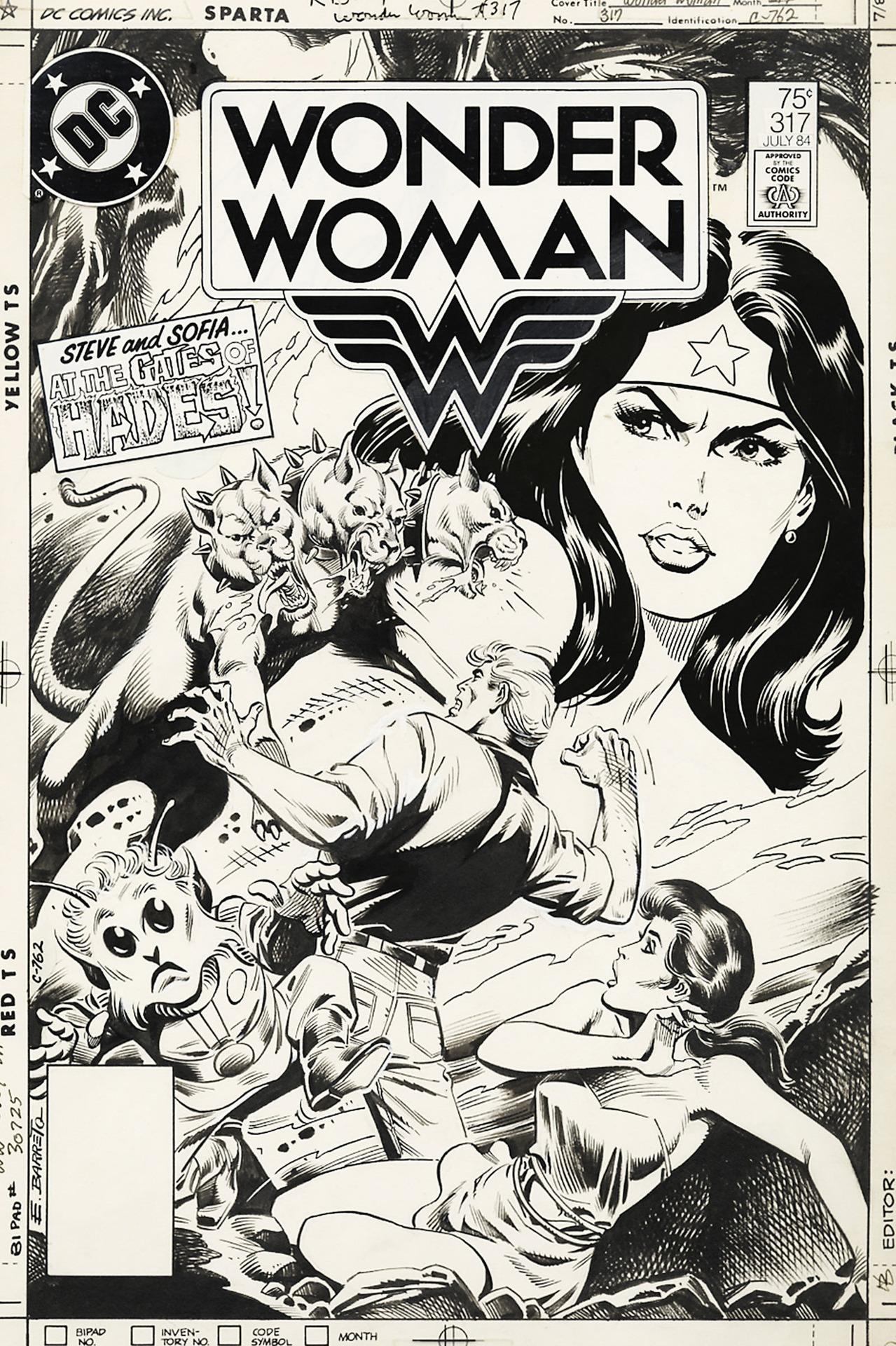 Original cover by Eduardo Barreto, Wonder Woman #317, 1984