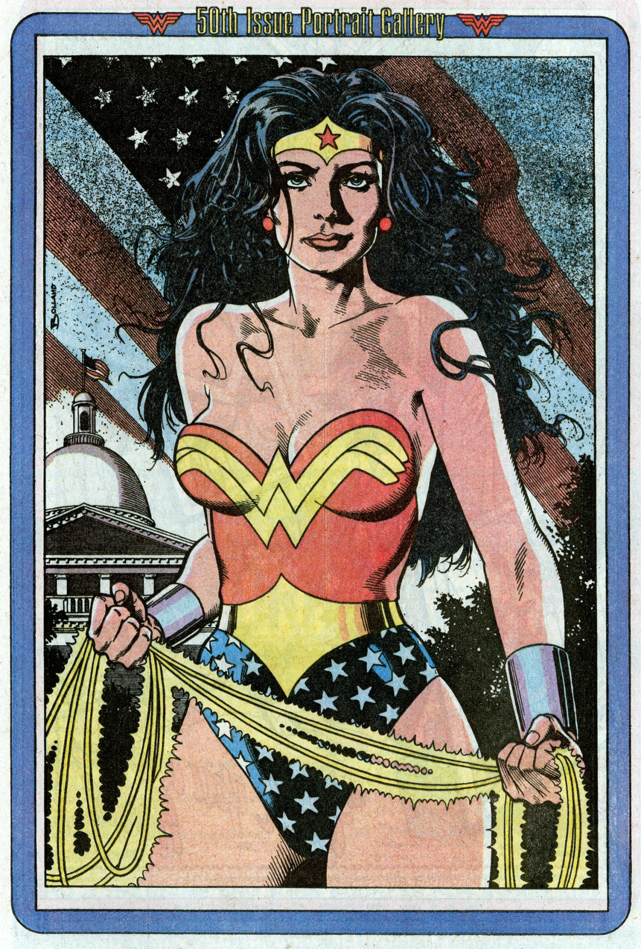 Pinup by Brian Bolland from Wonder Woman #50, 1991