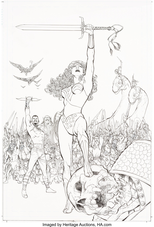 Phil Jimenez Wonder Woman #181 Cover Original Art