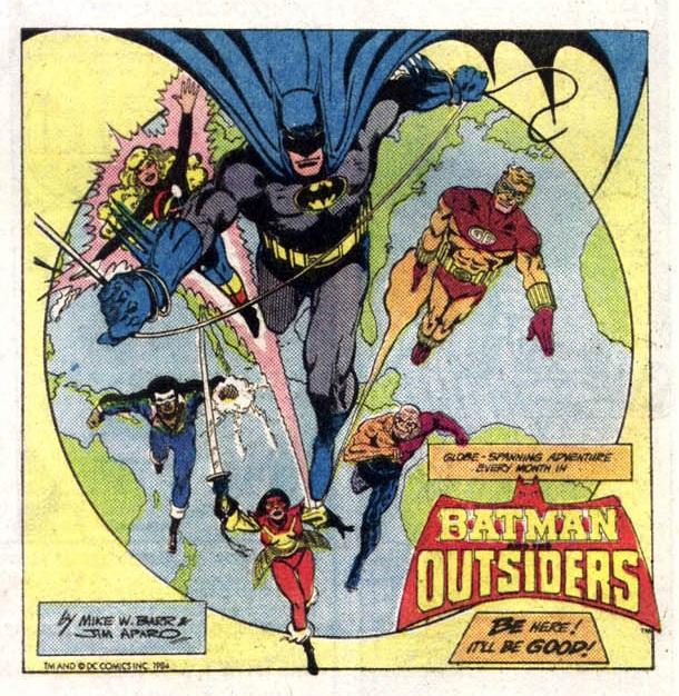 1984 - Batman & The Outsiders house ad