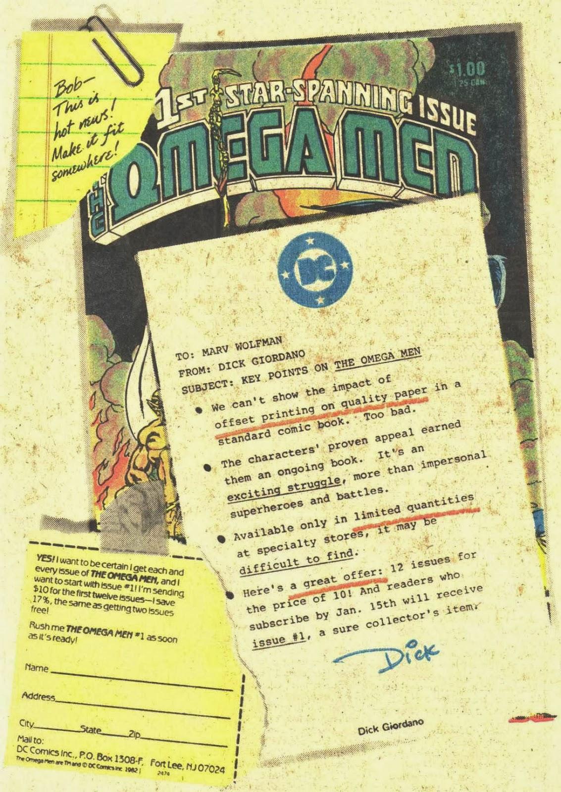 1982 - Omega Men House Ad