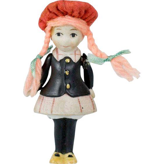RARE 1930s Little Annie Rooney German 3 All-Bisque Doll