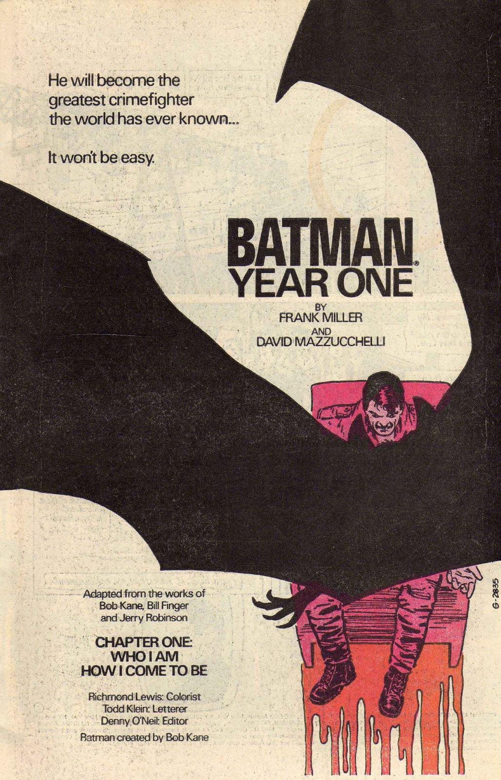1986 - house ad - Batman Year One 3