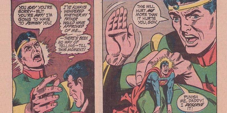 superman-spanking-father-worlds-finest-comics