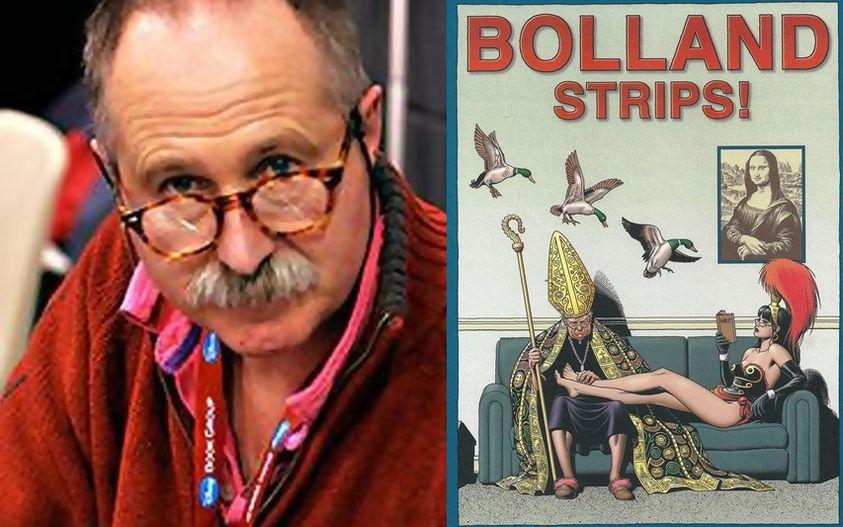 Peut être une image de 1 personne et texte qui dit 'BOLLAND STRIPS!'