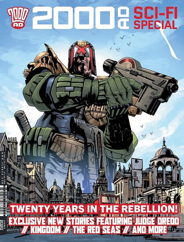 Jock, Al Ewing and Dan Abnett in 20 Years of 2000AD at Rebellion.
