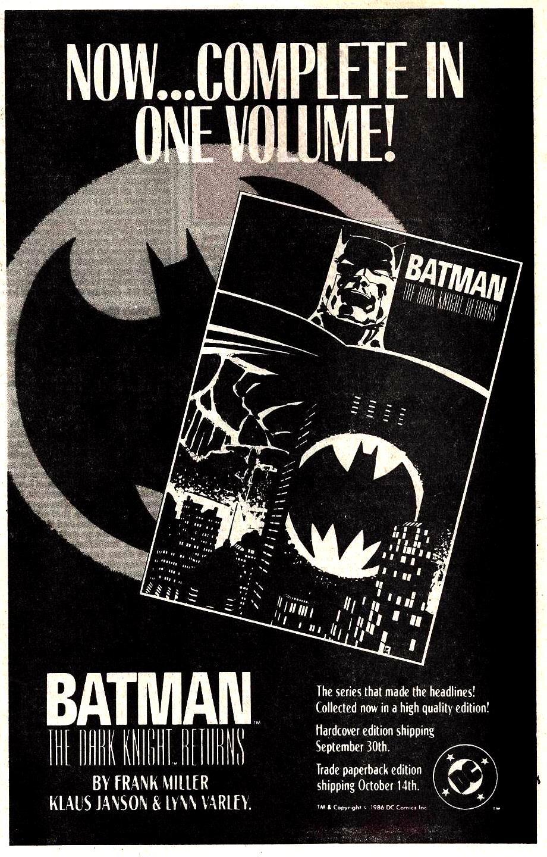 1986 - house ad - Batman TDKR