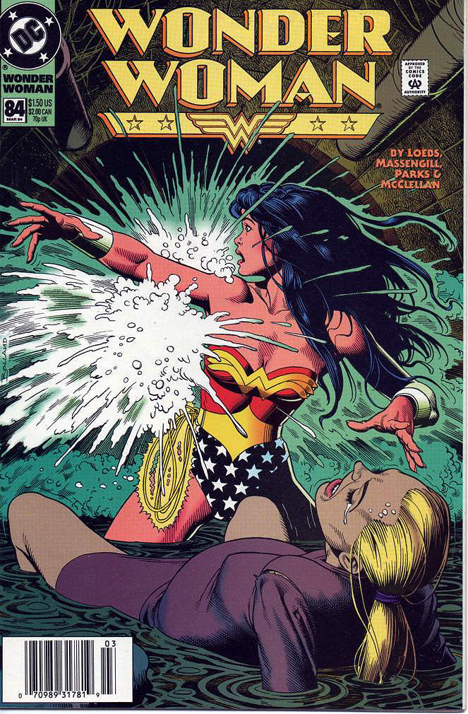 Original pencils, inked, and final cover art by Brian Bolland from Wonder Woman v2 #84, 1994 - 2