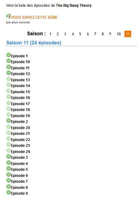 épisodes série