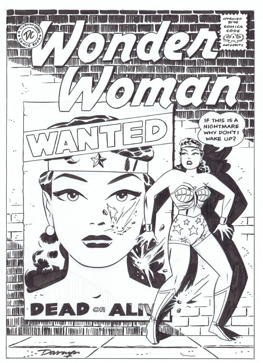 Wonder Woman #108 Cover Recreation by Darwyn Cooke