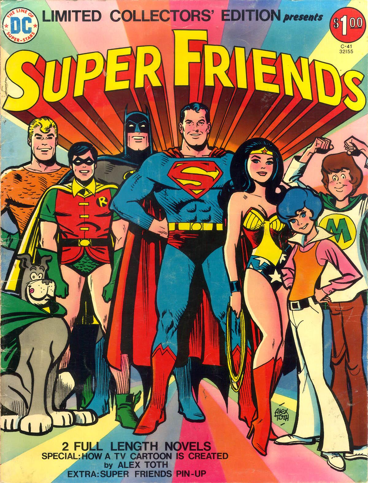 Super Friends cover by Alex Toth, 1975