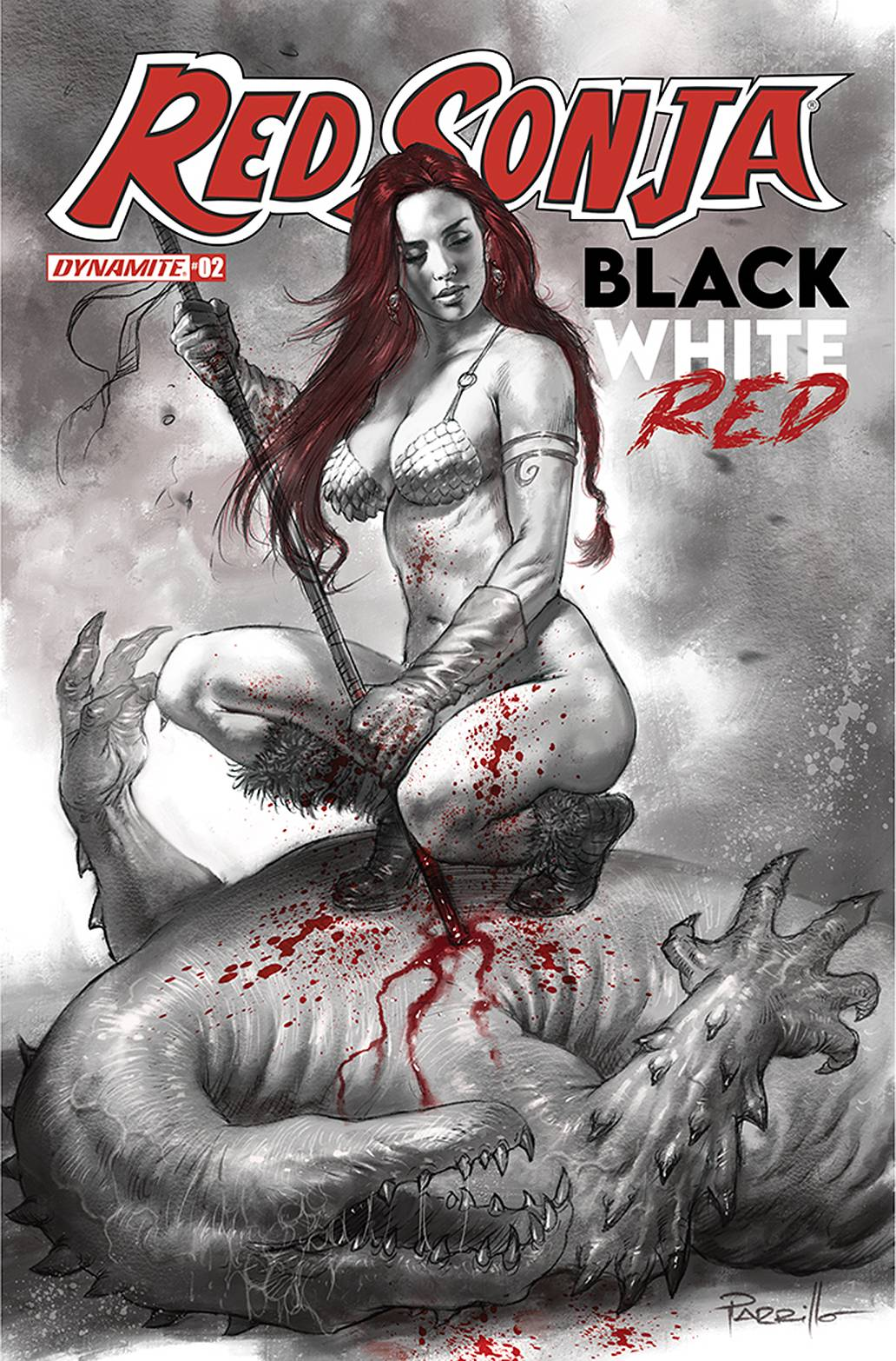 RED SONJA BLACK WHITE RED #2a
