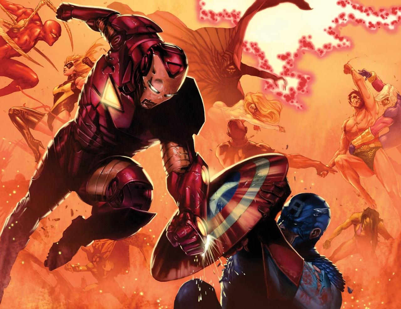Iron-Man-Vs-Captain-America-by-Gabriele-DellOtto1