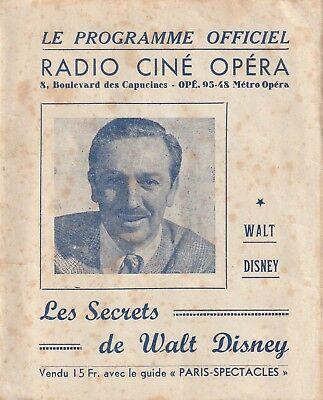 autographe-WALT-DISNEY-programme-cinéma-RADIO-CINE-OPERA