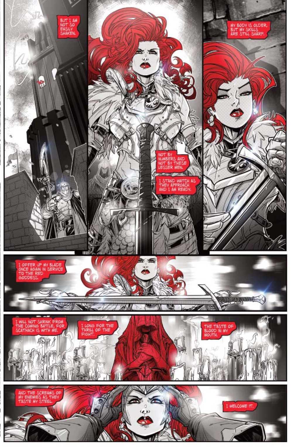 RED SONJA BLACK WHITE RED #23